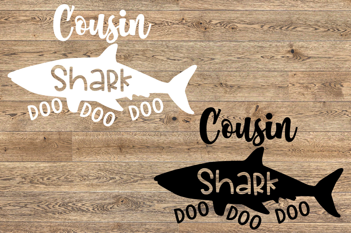 Cousin Shark SVG Doo Doo Doo Family Birthday Sea World 1308S example image 2