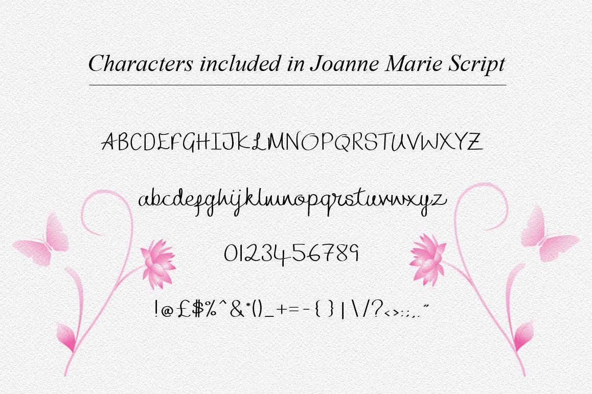 Joanne Marie Script Font example image 3