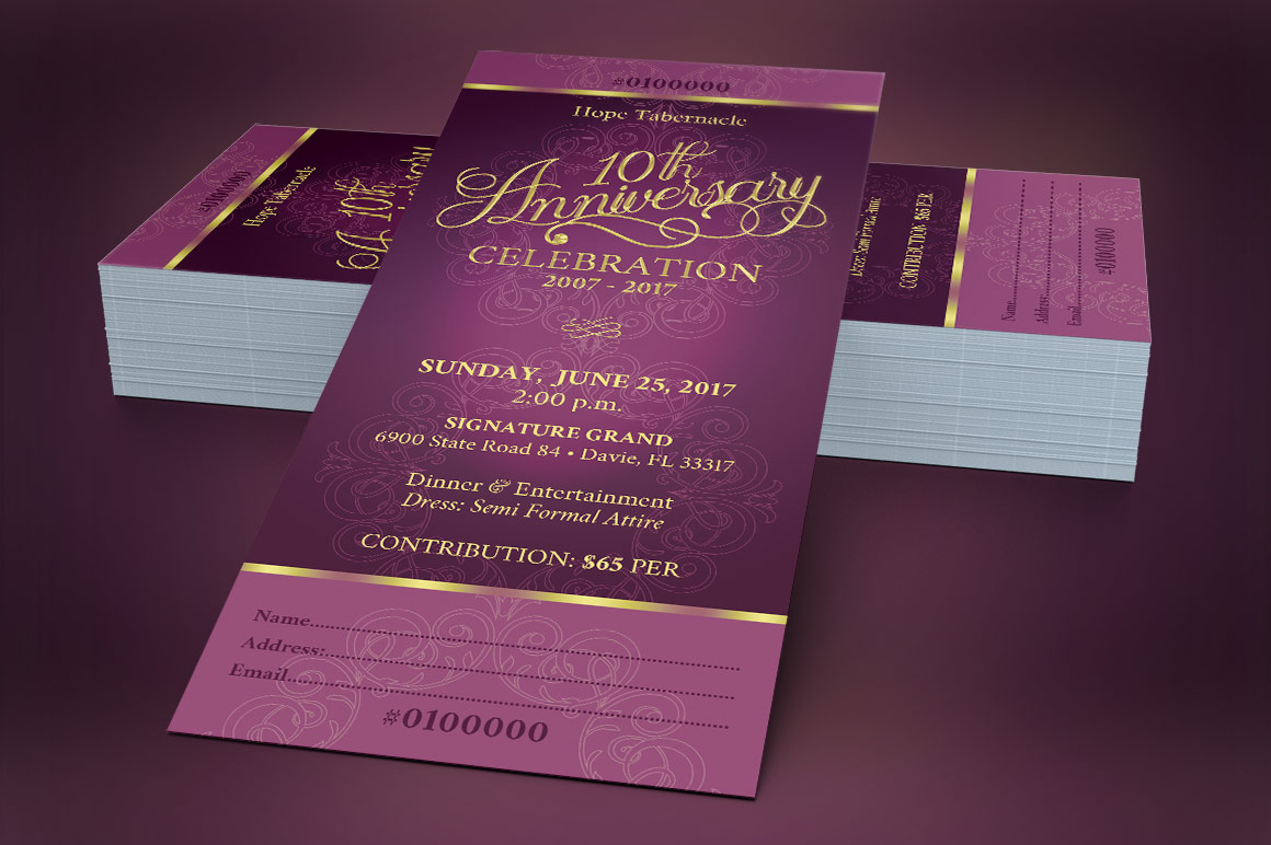 Church Anniversary Banquet Ticket example image 2