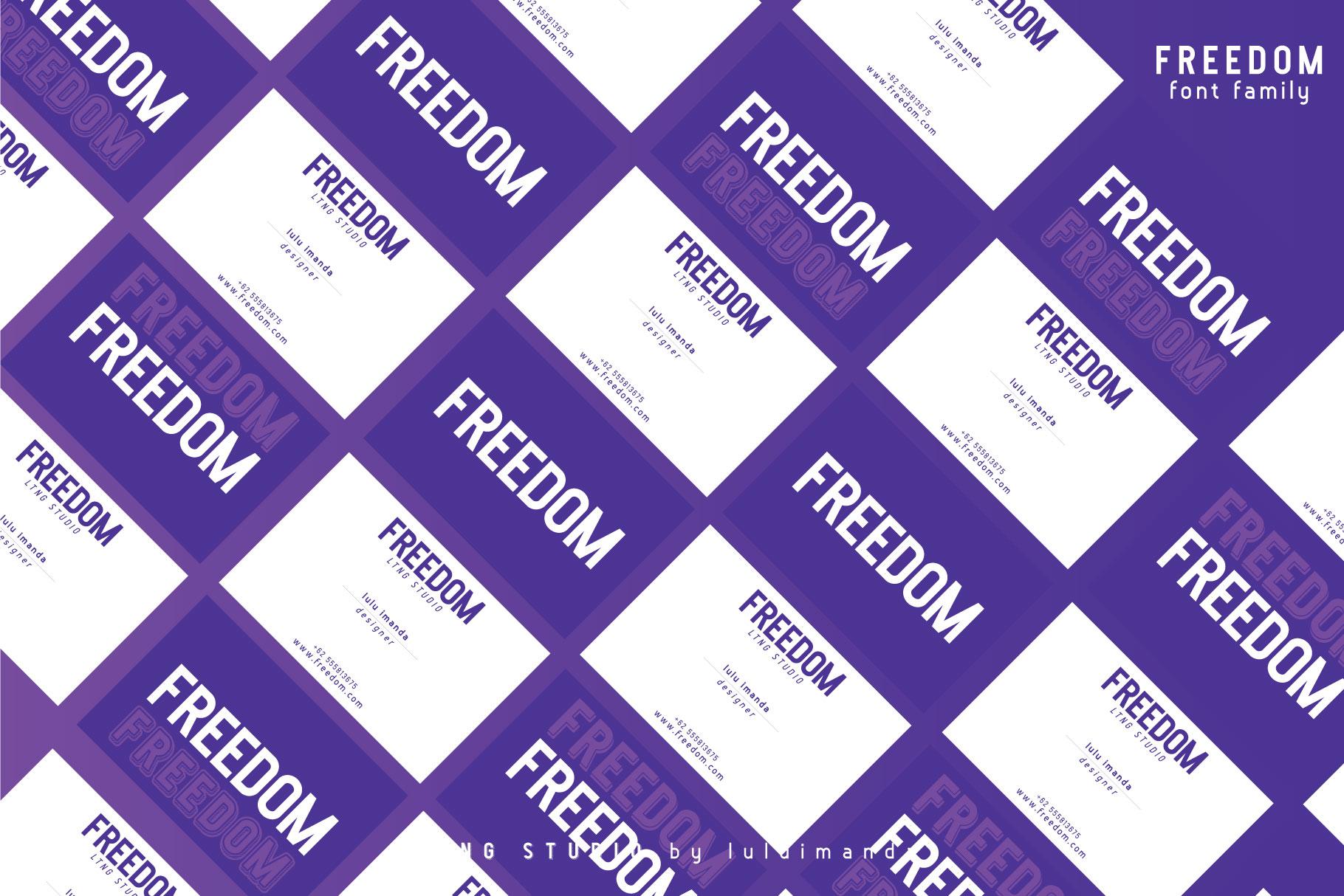 FREEDOM font family example image 11