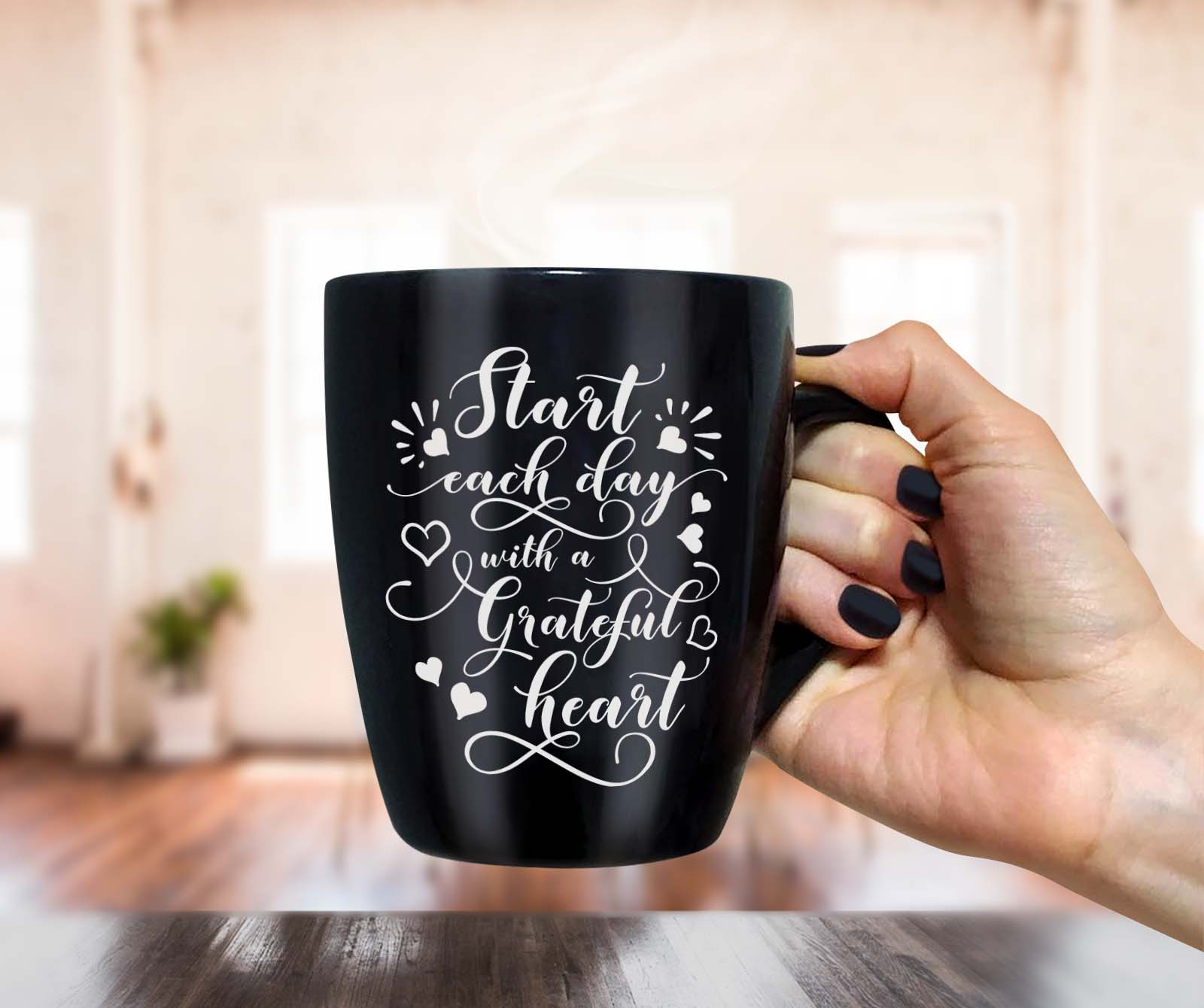 Start each day with a grateful heart SVG design SVG PNG EPS DXF example image 5