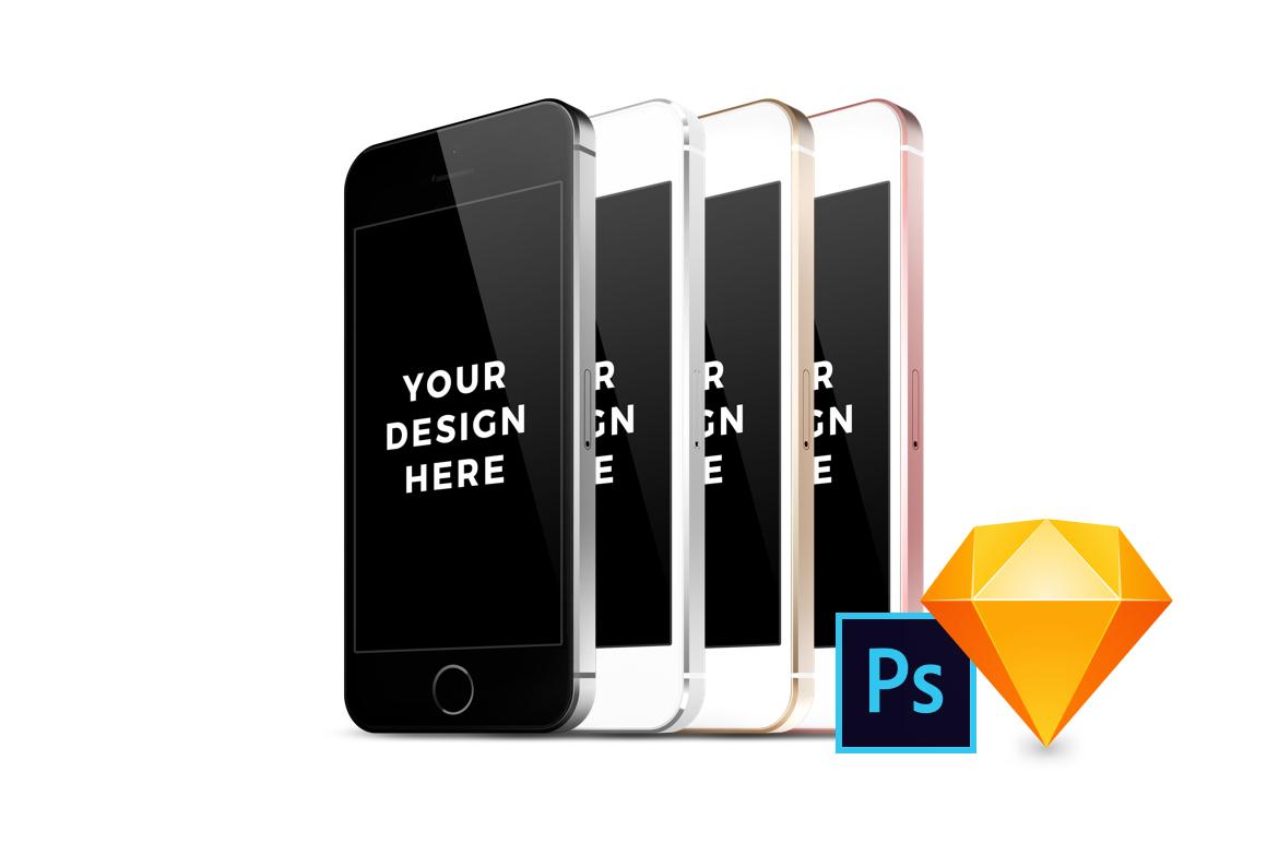 32x iPhone SE Mockups example image 1
