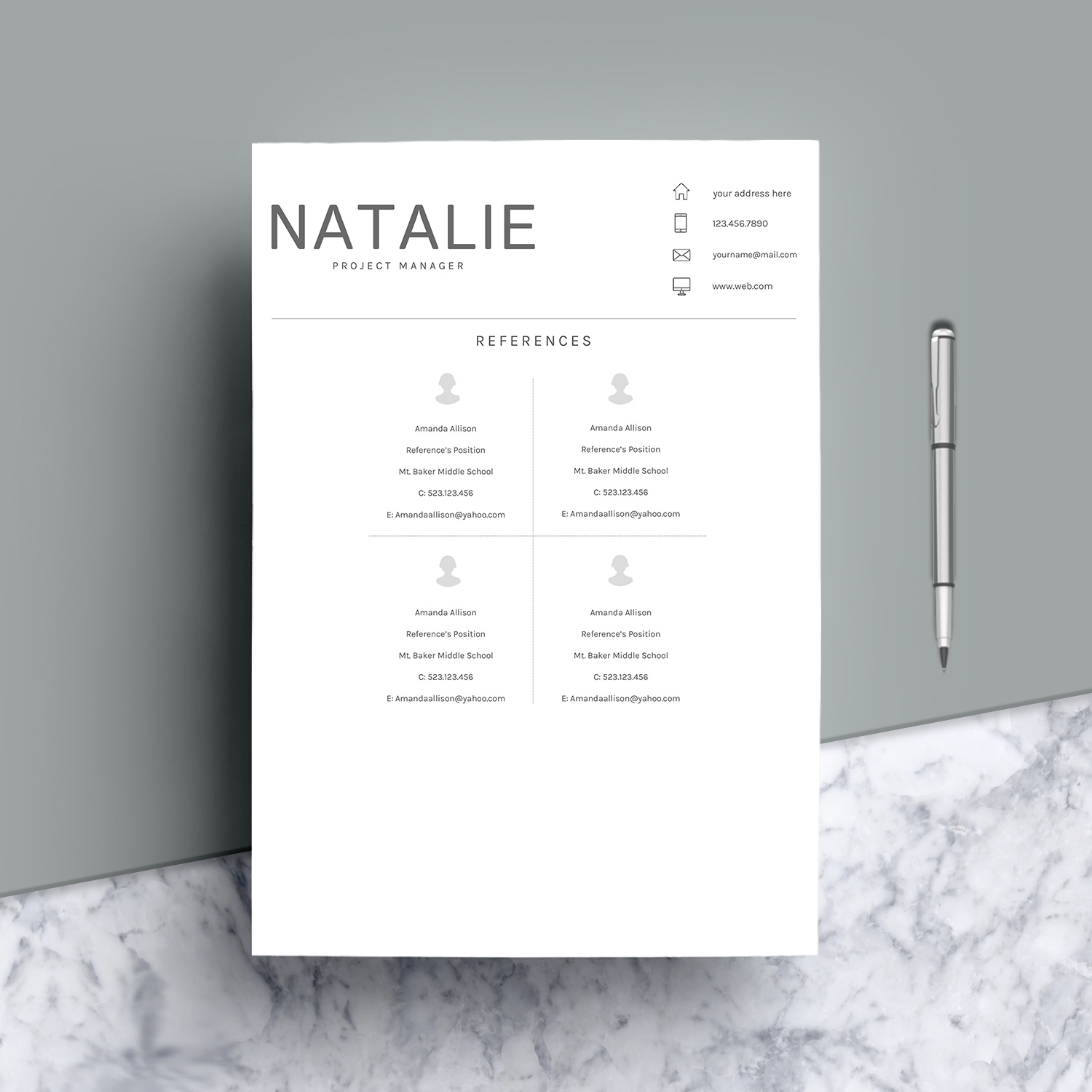 Resume Template CV Word example image 9