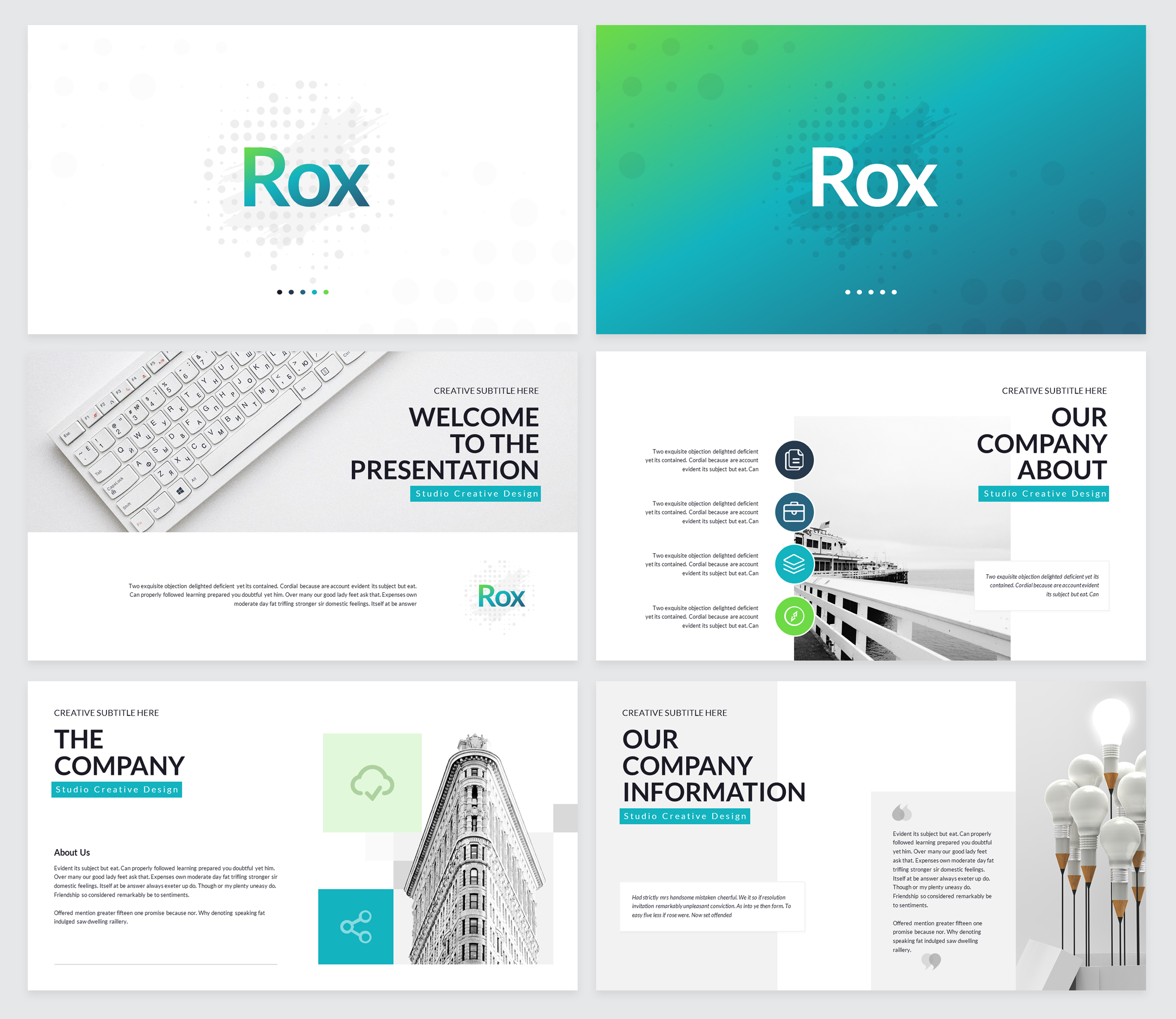 Rox Business PowerPoint Presentation Template example image 2