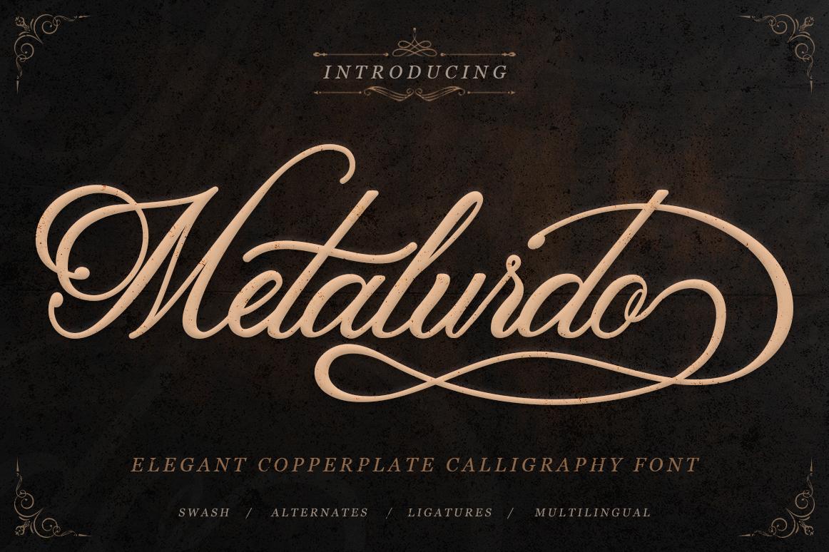 Metalurdo Calligraphy Font example image 1