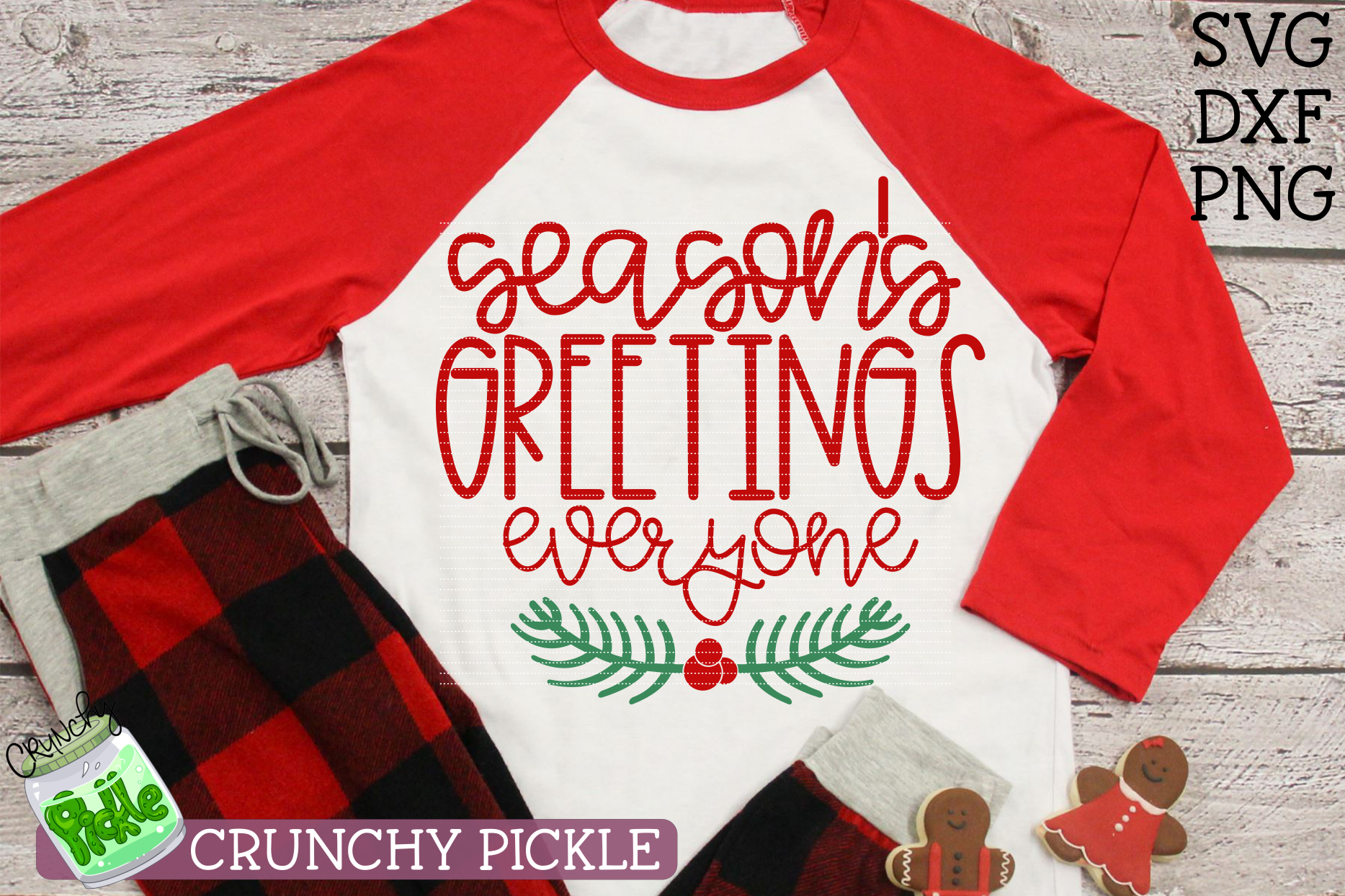 Season's Greetings Everyone SVG example image 3
