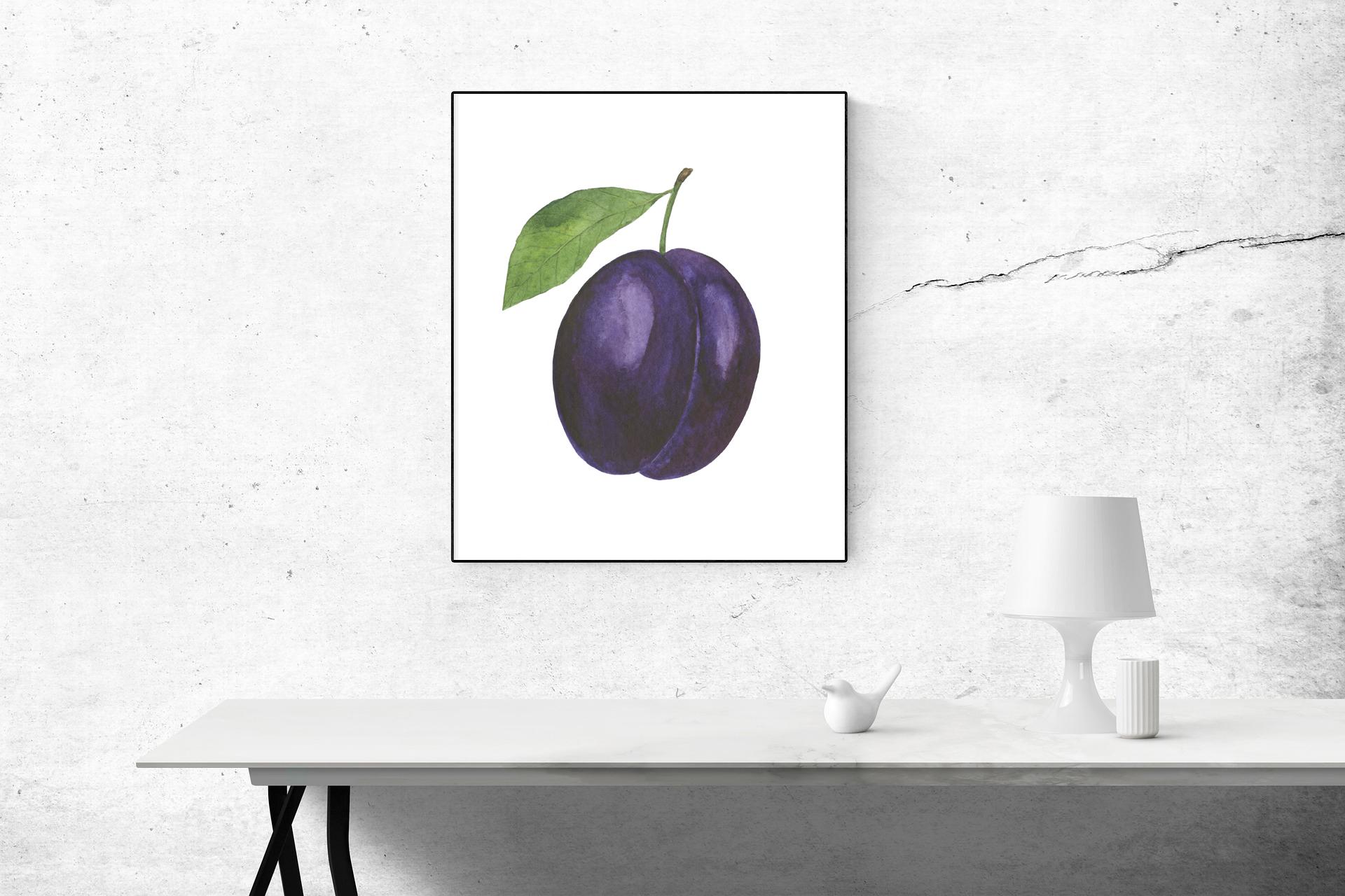 Set Plum watercolor example image 7