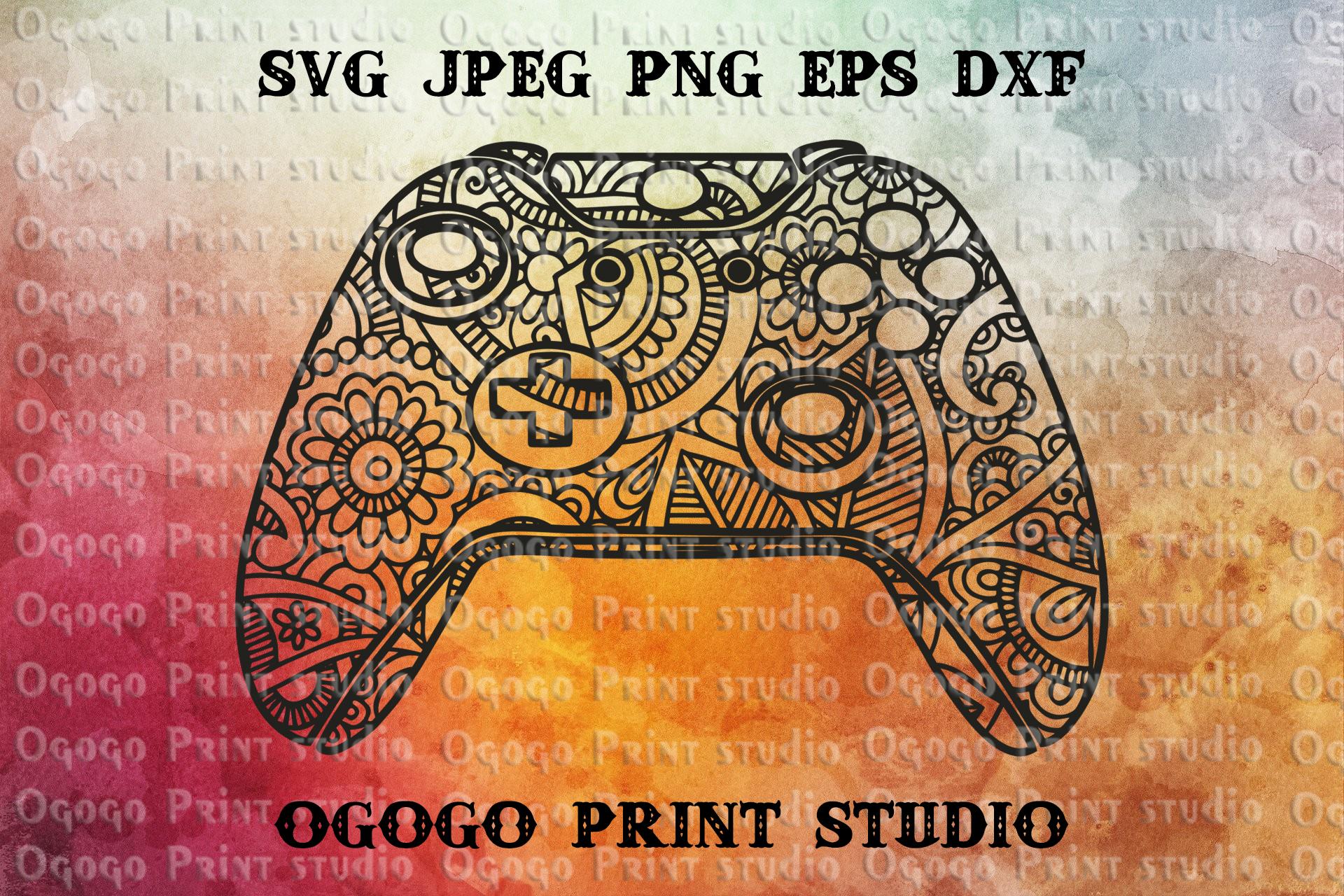 XBOX Controller SVG, Zentangle Svg, Gamer svg, Mandala svg example image 1