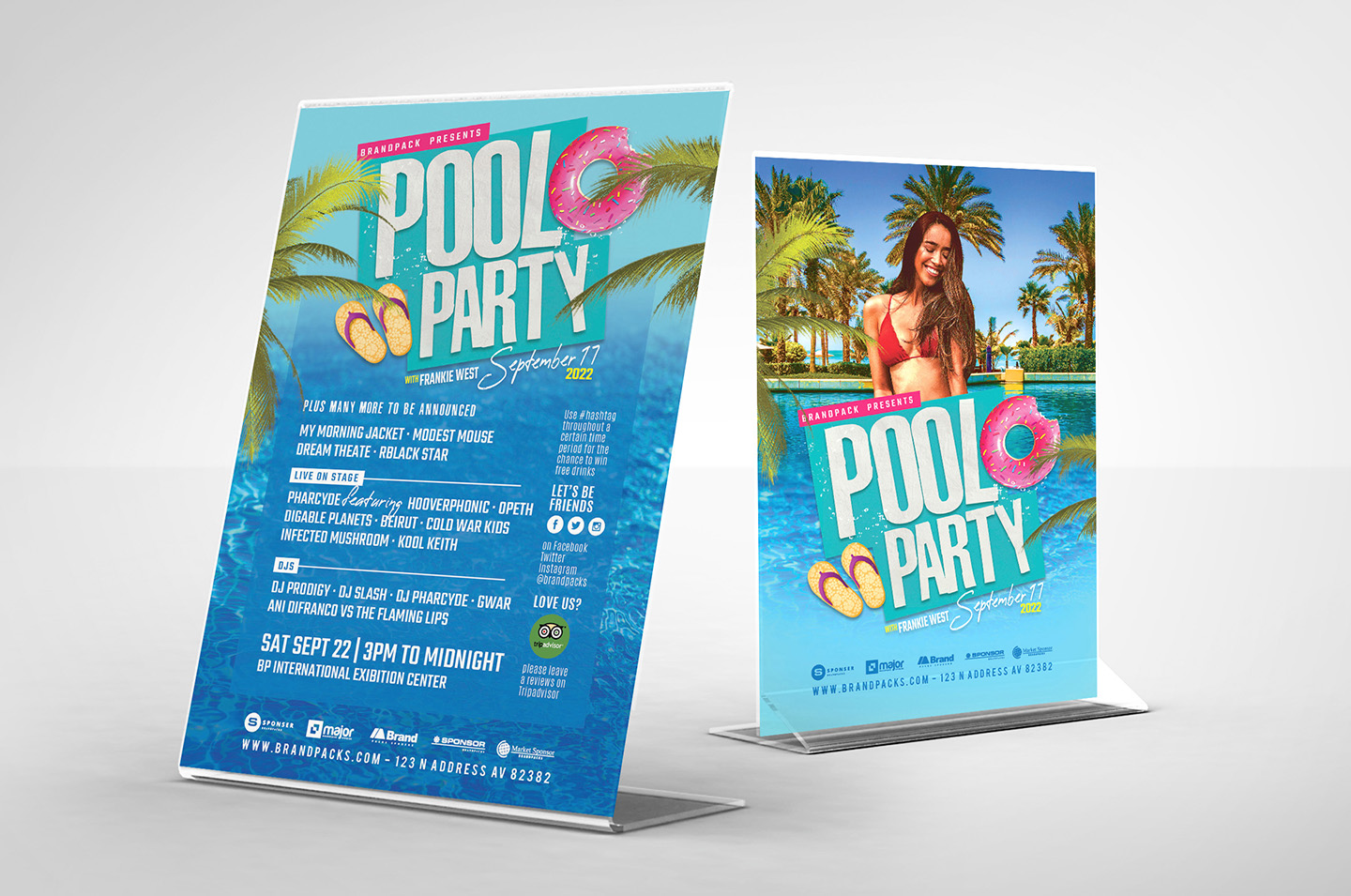 Pool Party Flyer Template example image 2