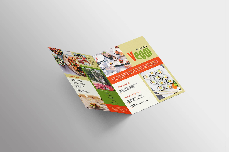 Vegan Menu Bifold Brochure A3 - AI/PSD Templates example image 11
