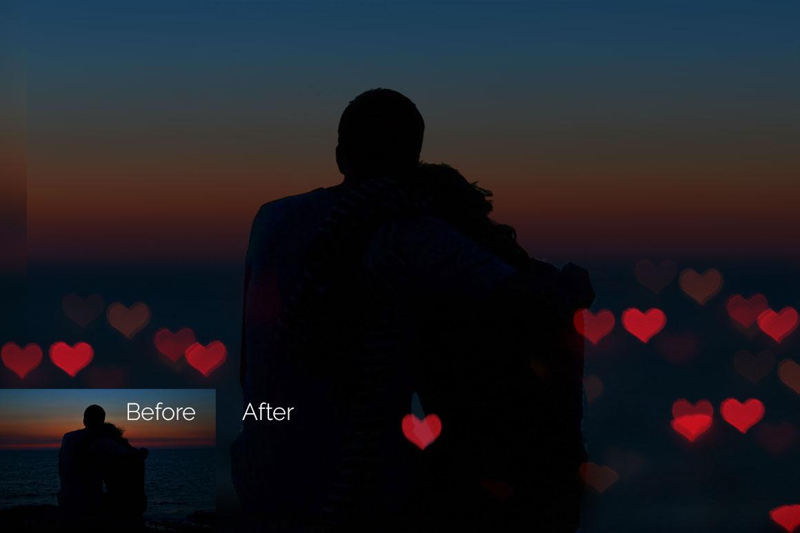 28 Heart Bokeh Photo Overlays example image 6