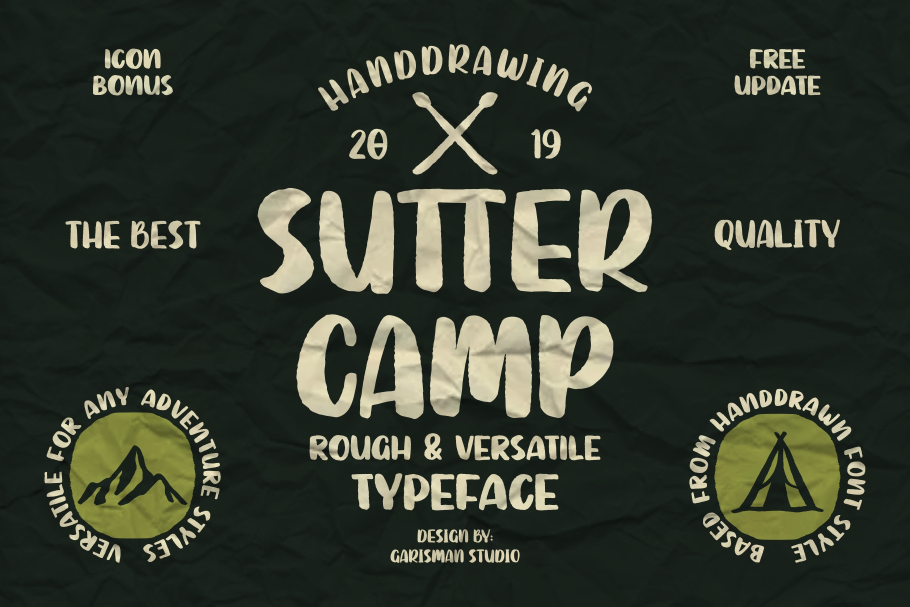 SUTTER CAMP - Adventure Typeface example image 1