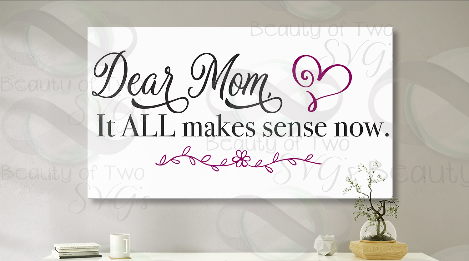 Mothers Day svg & png, Dear Mom svg, Mom love svg, Love Mom example image 2
