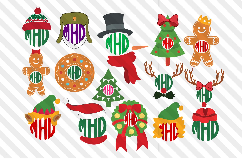 Christmas,Christmas tree,Snowmen,Santa,Monograms,SVG,Cricut example image 1