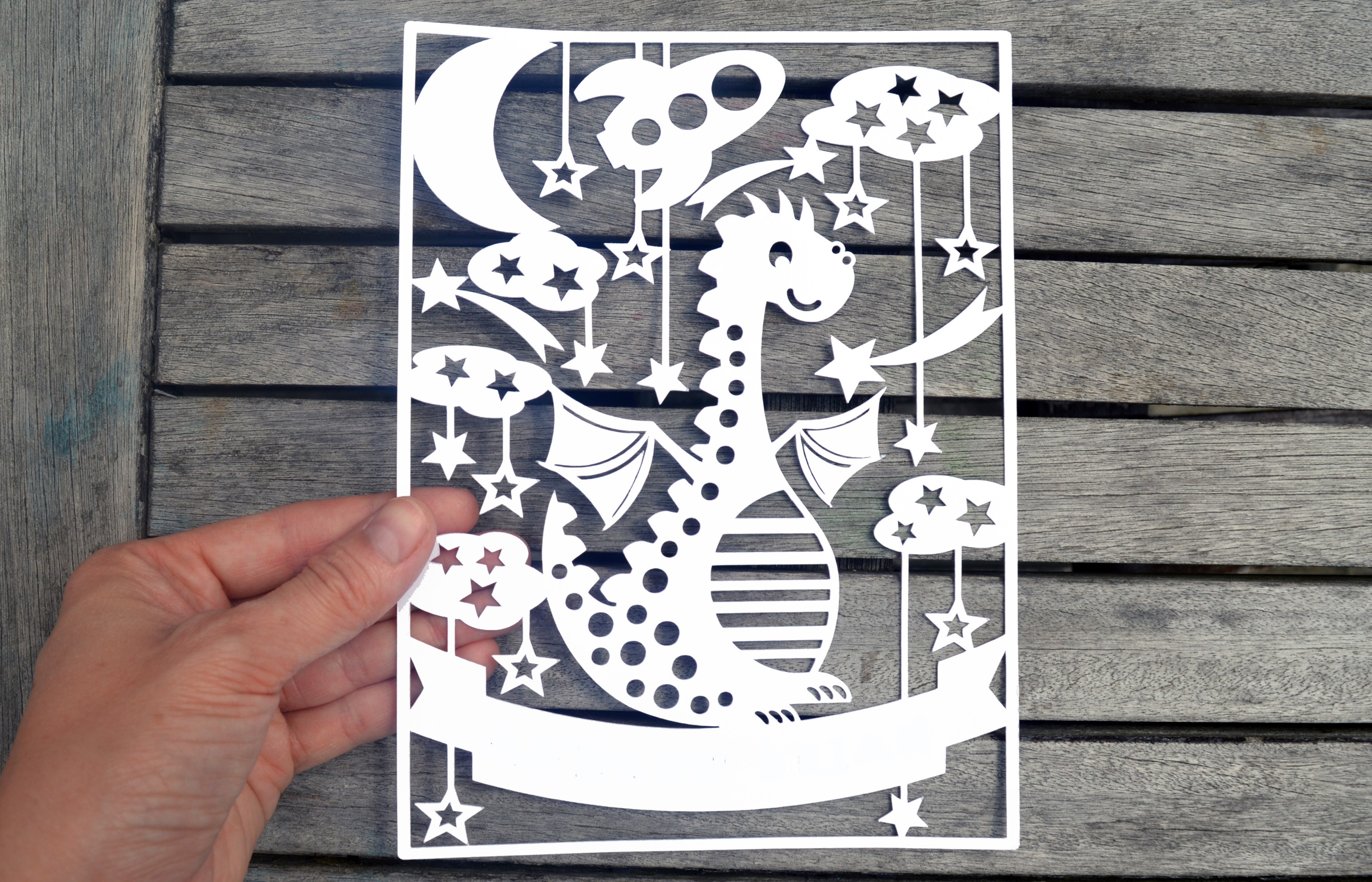 Dragon Paper Cut SVG / DXF / EPS File example image 2