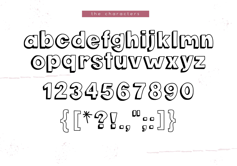 Pink Flamingos - Handwritten Bubble Font example image 6