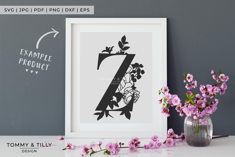Z Bouquet Letter Design - Paper Cut SVG EPS DXF PNG PDF JPG example image 4