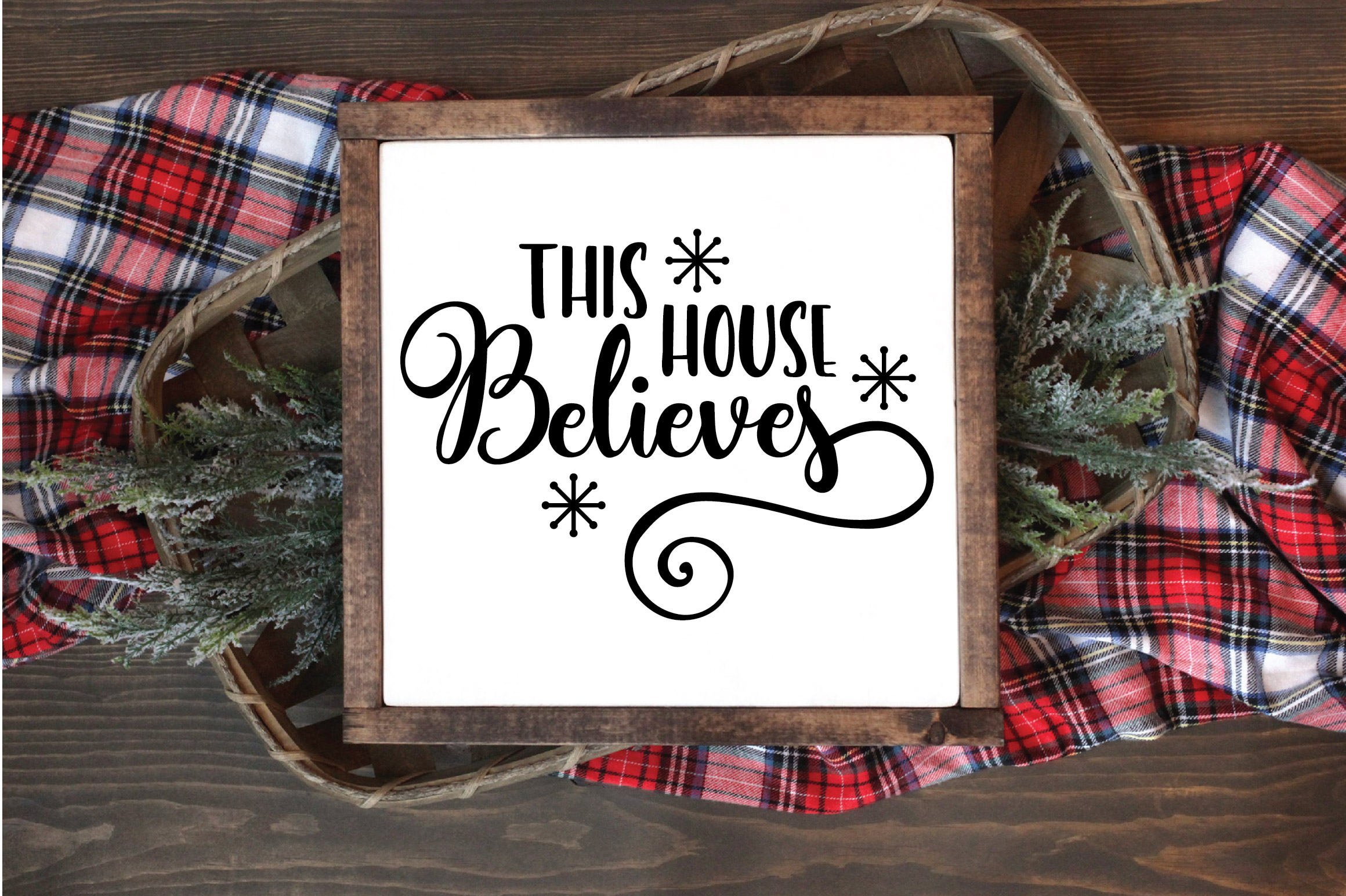 Christmas SVG Cut File - This House Believes SVG DXF PNG EPS example image 2