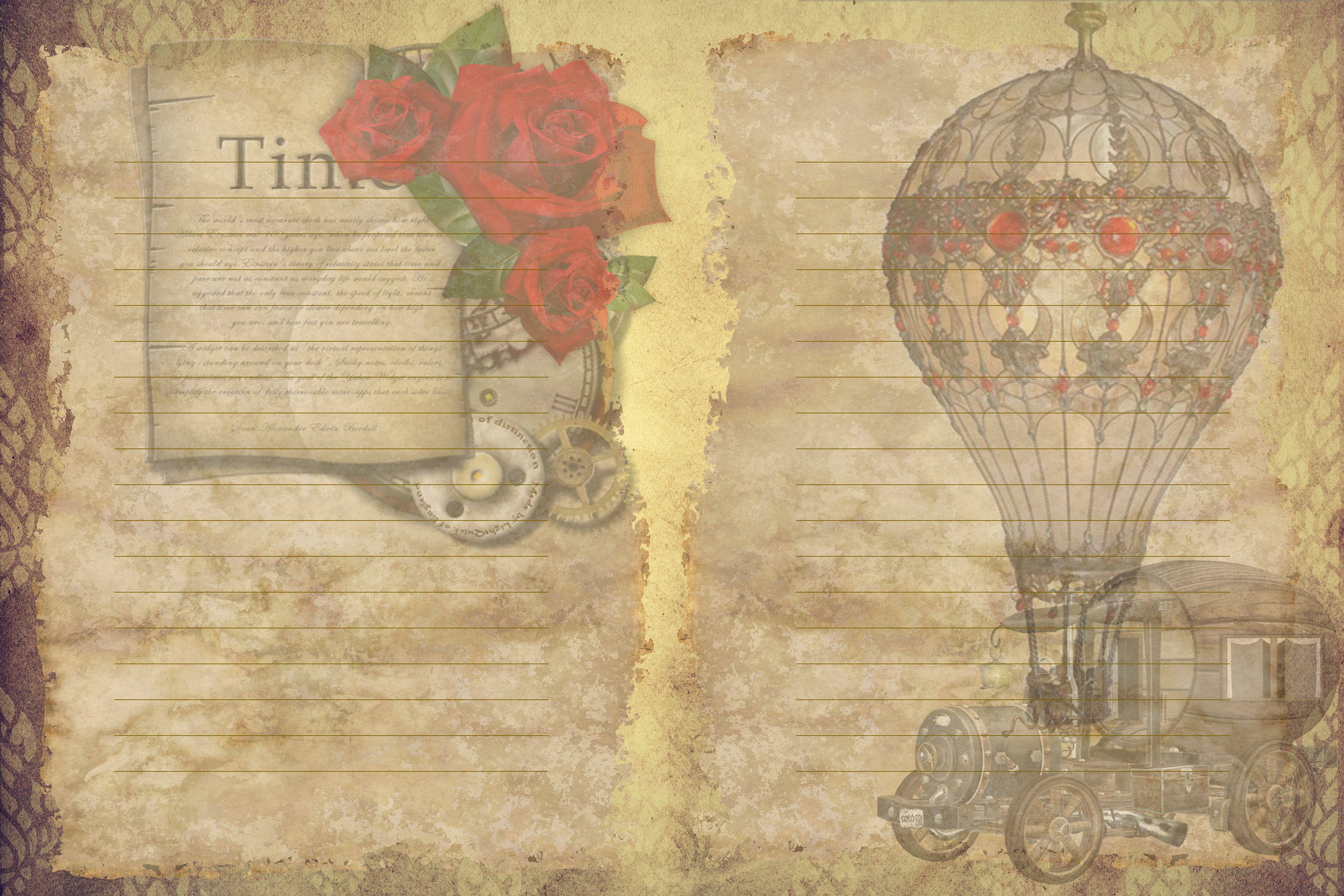 Steampunk Background set with FREE Clipart and Ephemera example image 5