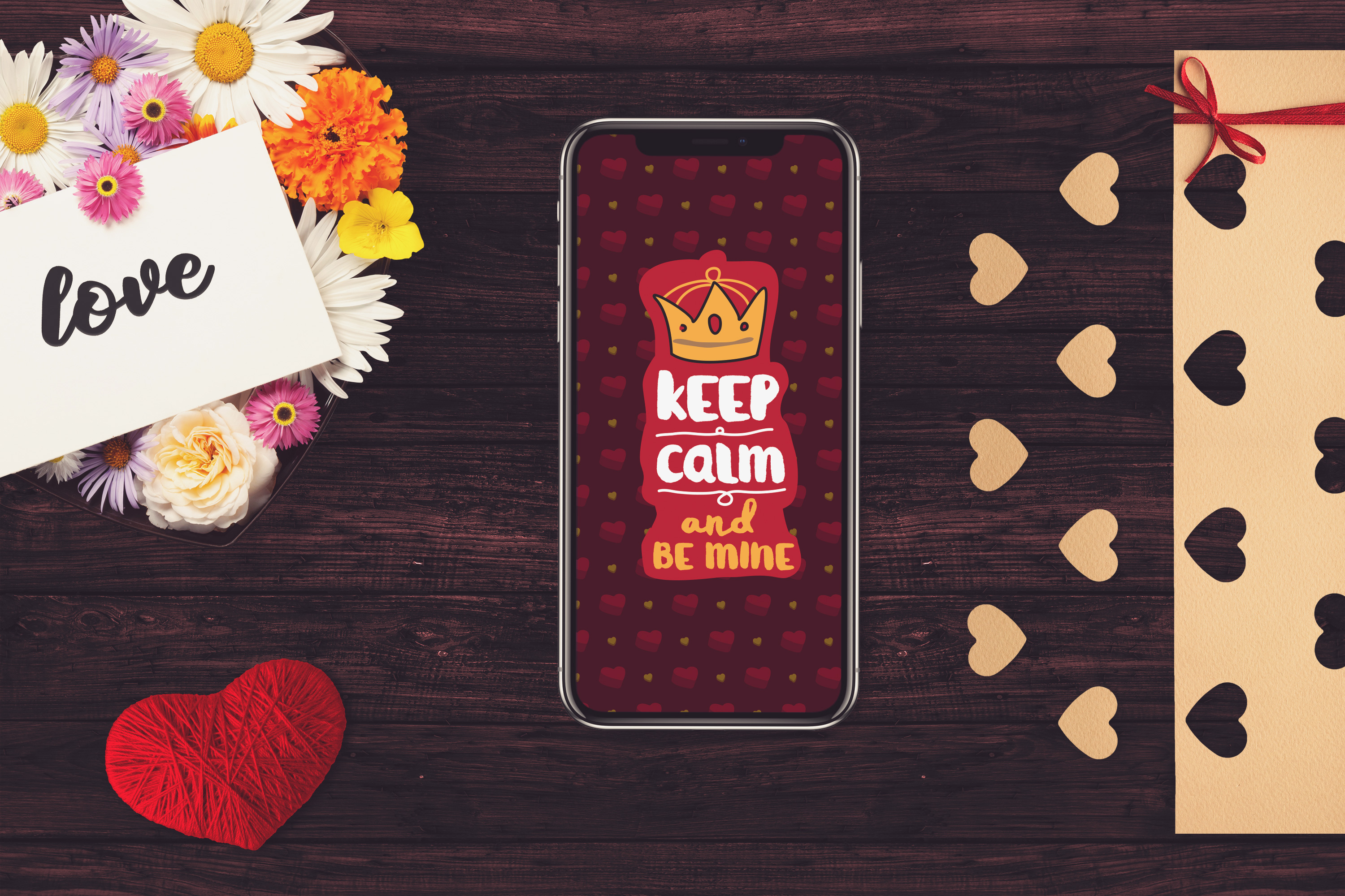 Valentine Iphone X Screen Mock-up #2 example image 1