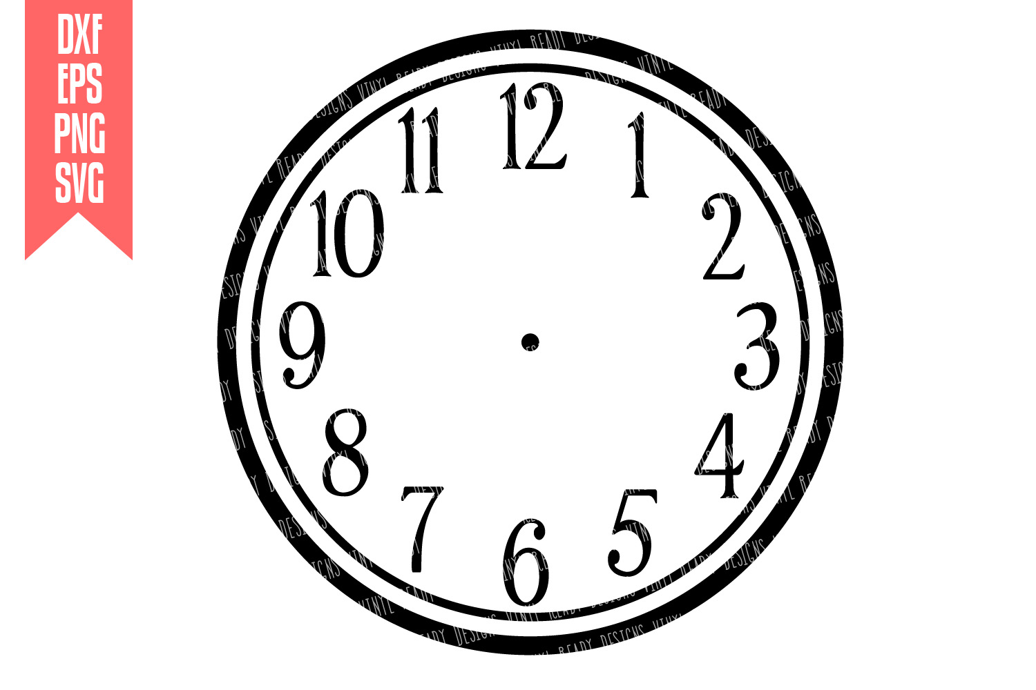 It is a photo of Hilaire Clock Face Designs