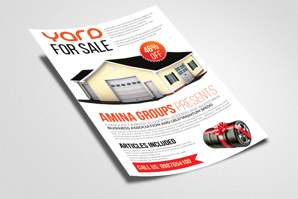 Latest Garage Sale Flyer templates example image 2