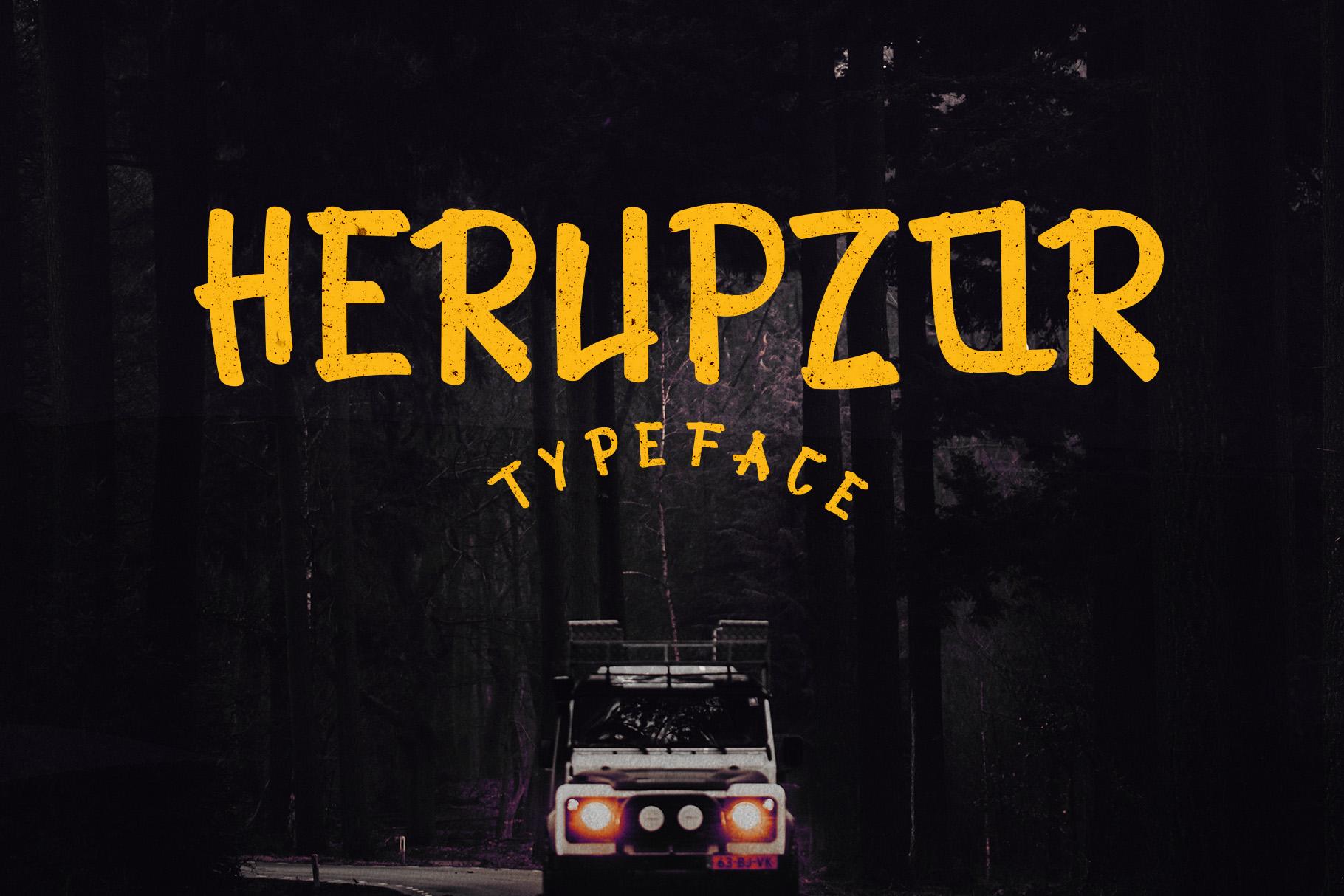 Herupzor Typeface example image 1