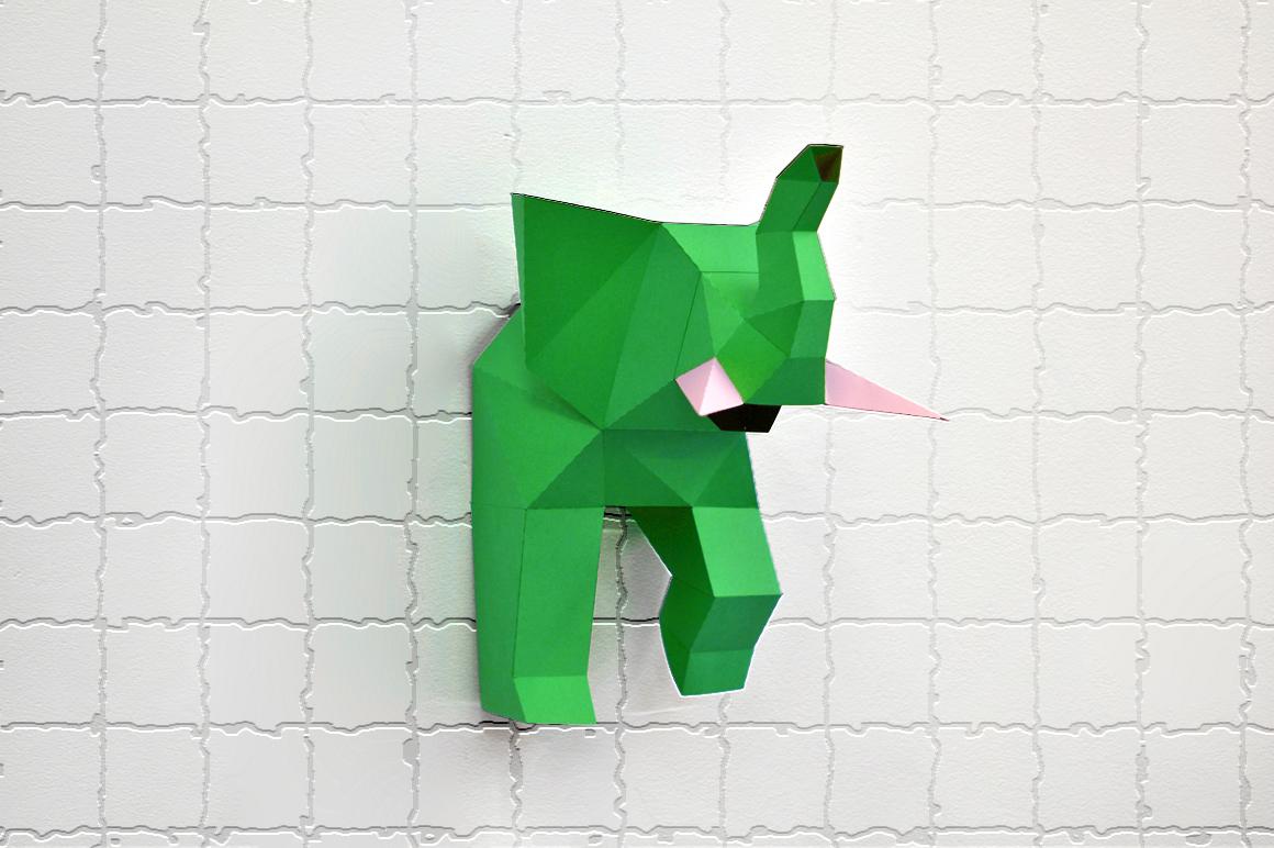 DIY Elephant trophy - 3d papercraft example image 5
