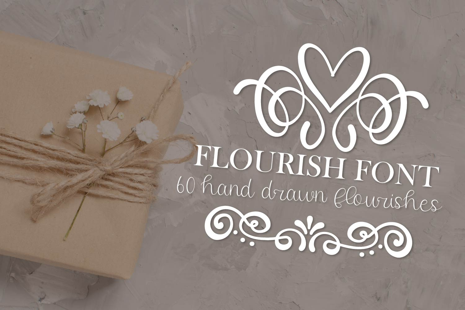 Flourish Font - 60 Hand Drawn Ornament Swooshes example image 2