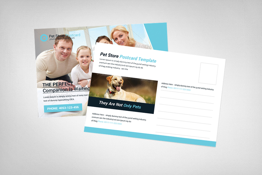 Pet Store Postcard Template example image 2