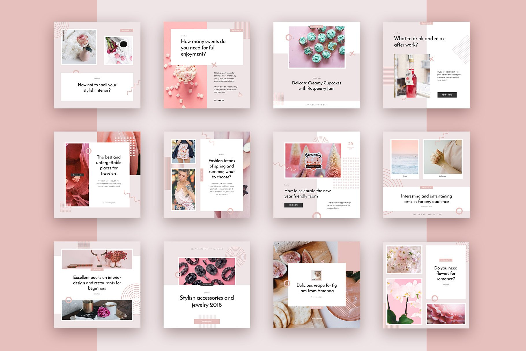 Saymore Pink Fantasy Templates example image 3