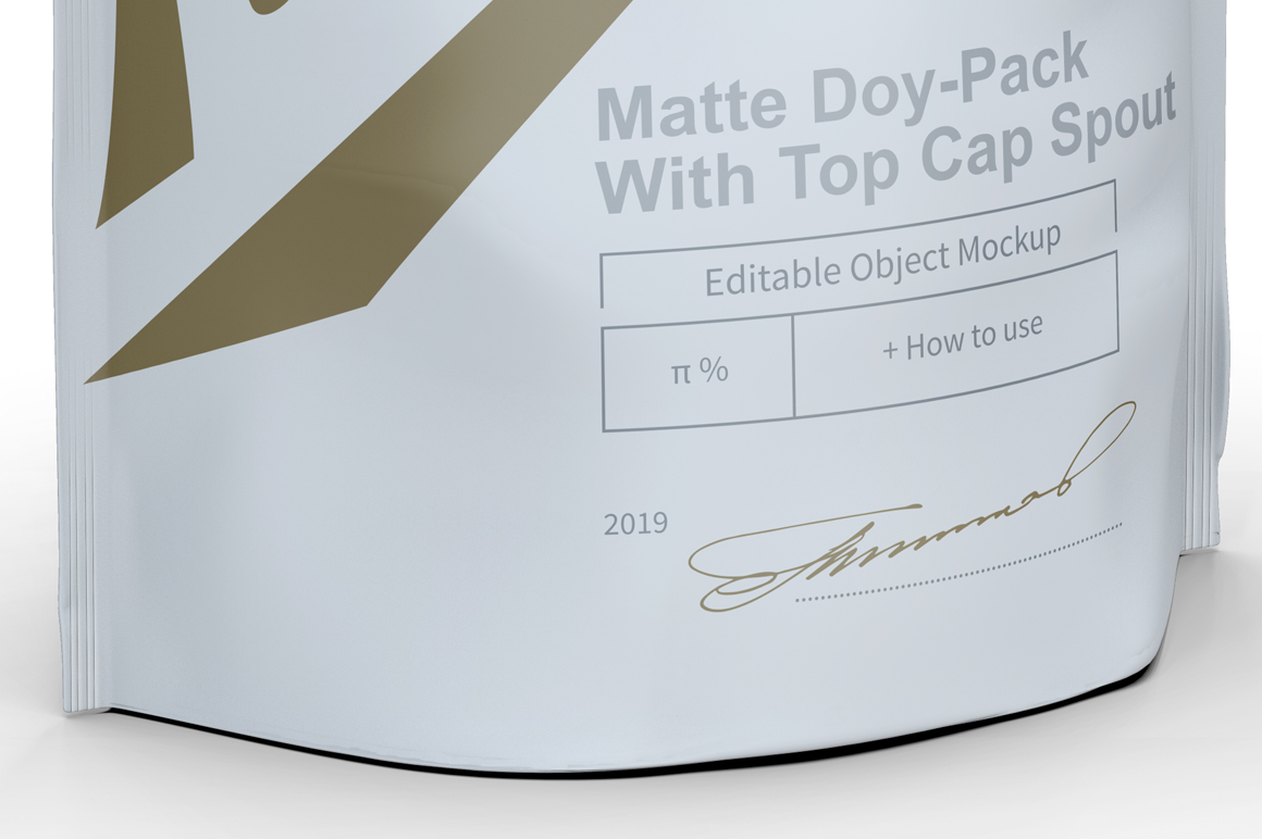 Matte Doy-Pack With Top Cap Spout example image 4