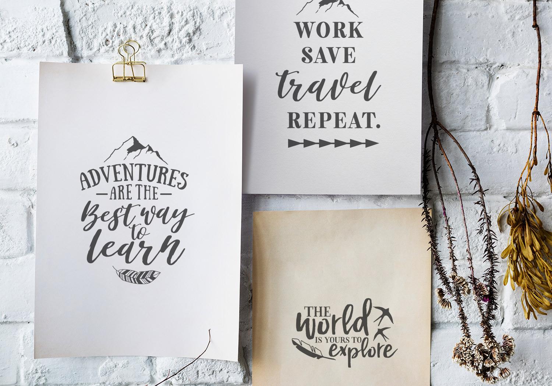 Adventure & Travel Quote SVG Cut File Bundle example image 8