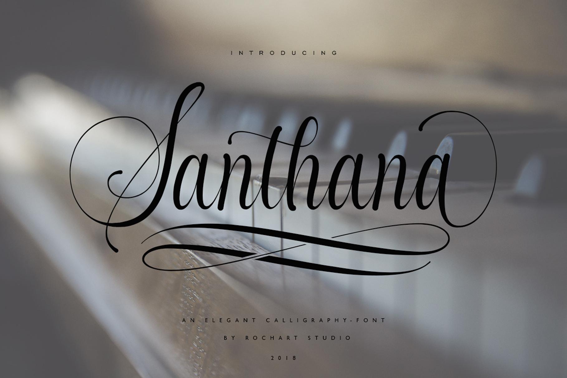 Santhana Calligraphy example image 12