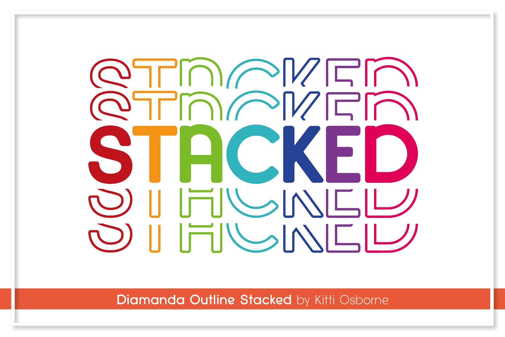 Diamanda Font Family Bundle includes 6 crafting fonts example image 19