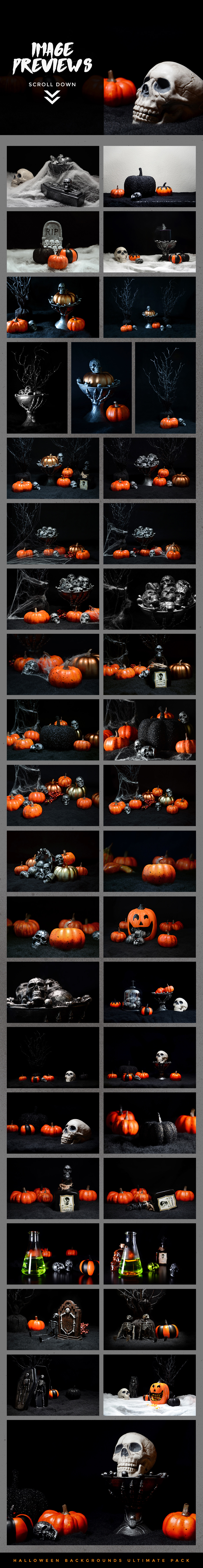 Halloween Backgrounds Ultimate Pack example image 2