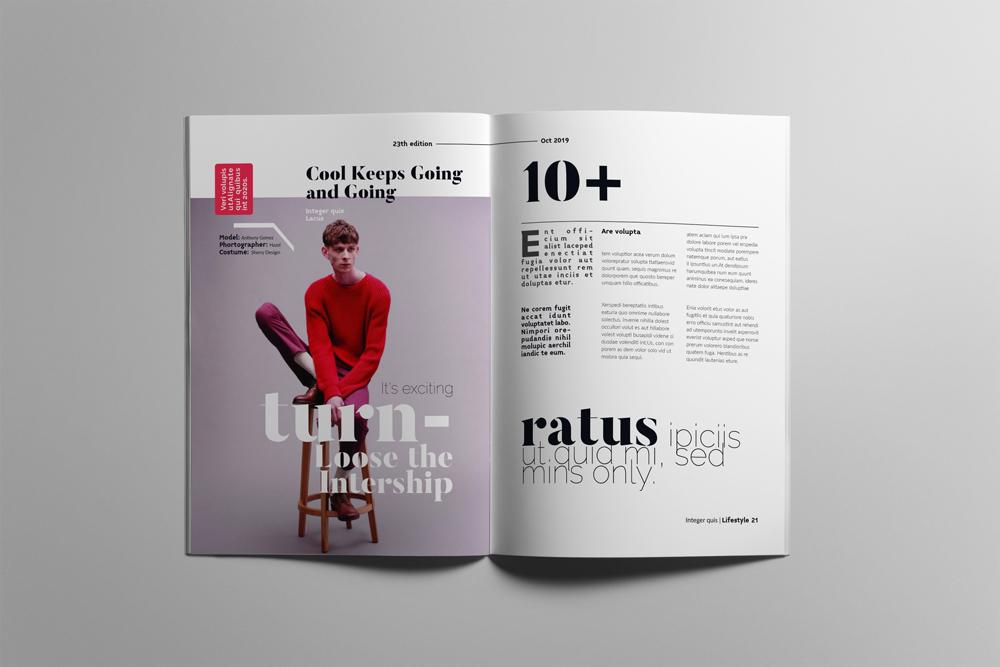 Fashion Magazine Layout Template example image 11