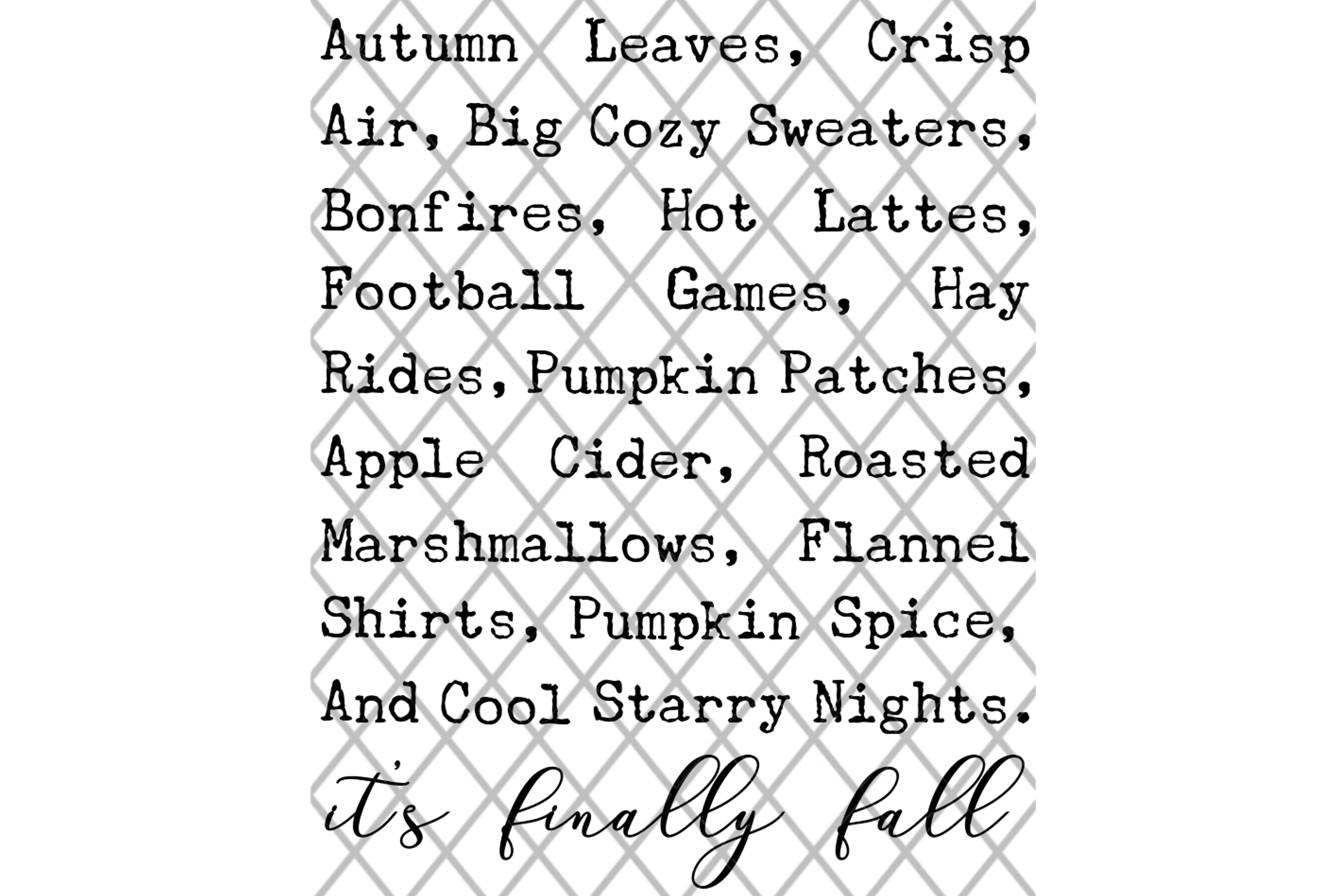 It's Finally Fall SVG Sign Design example image 3
