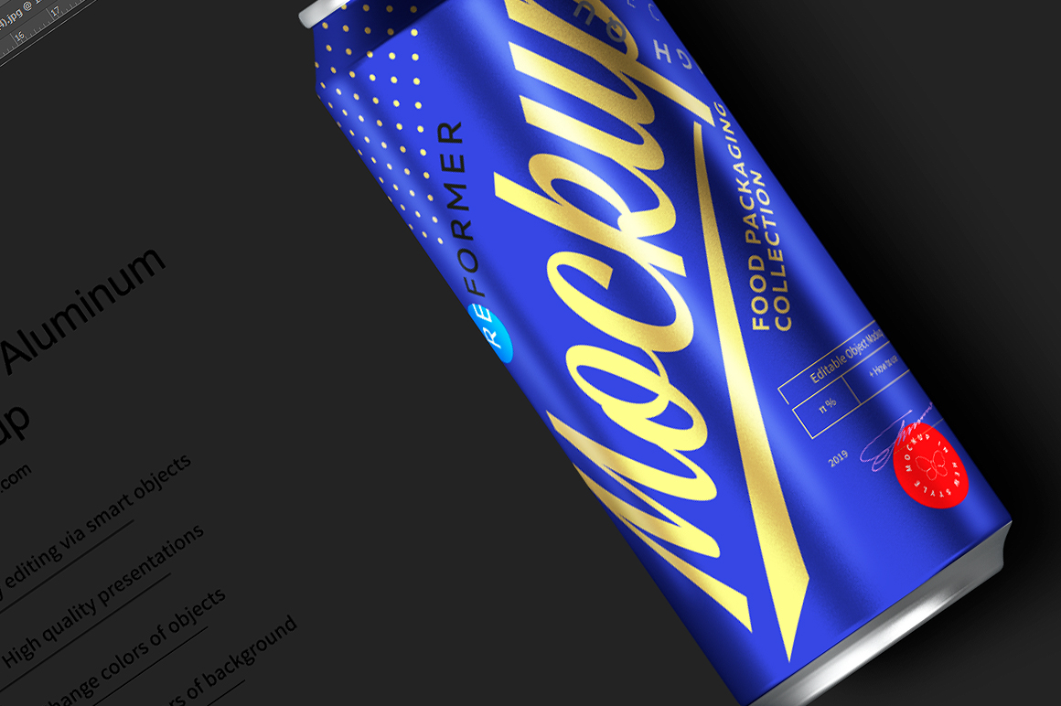 500ml Black Aluminum Can Mockup example image 5