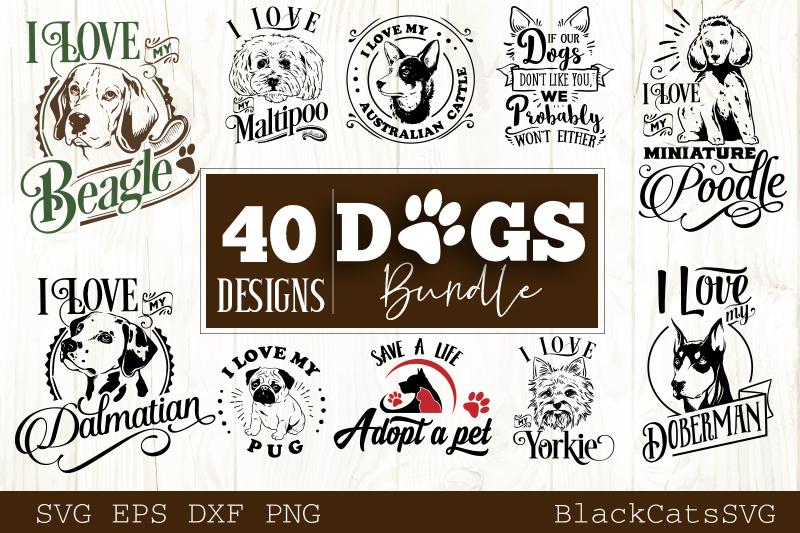 Dogs SVG bundle 40 designs example image 3