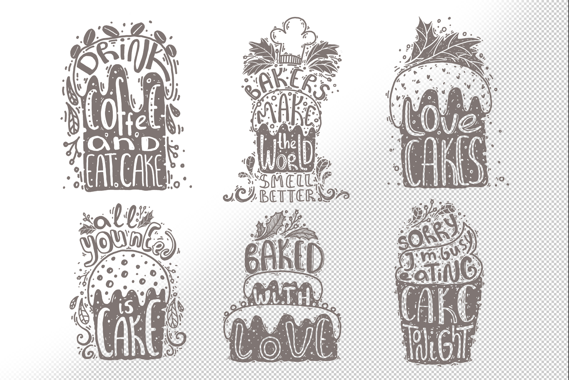 Hand drawn lettering bundle example image 5