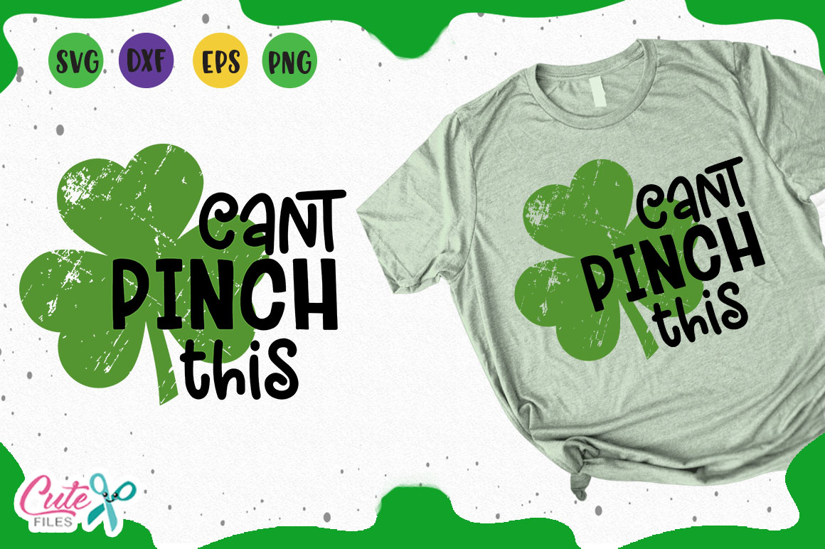 Can't Pinch this svg, st patrick day cut files for crafter example image 1