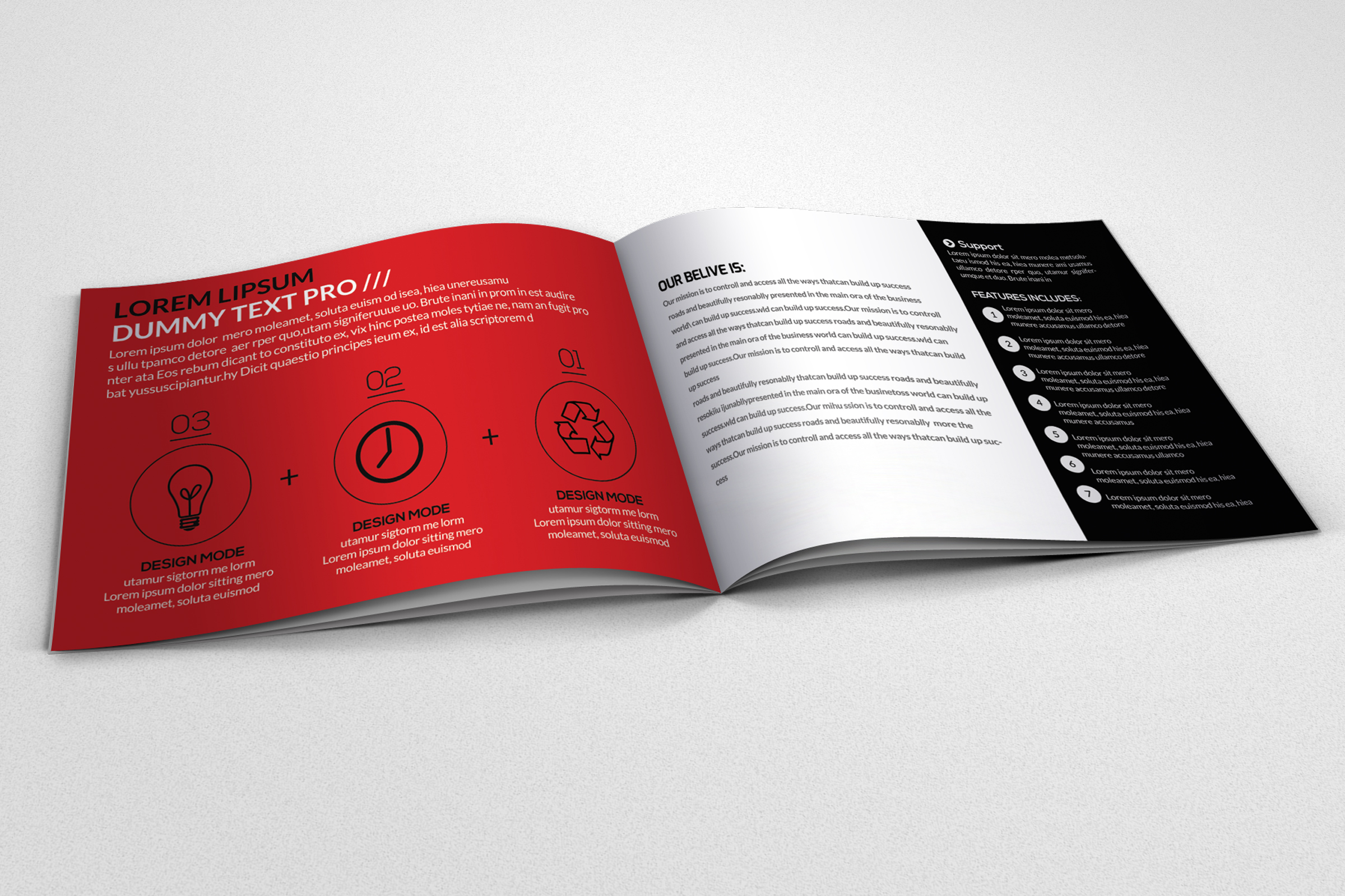 Promotion & Marketing Business Bifold Brochure example image 2