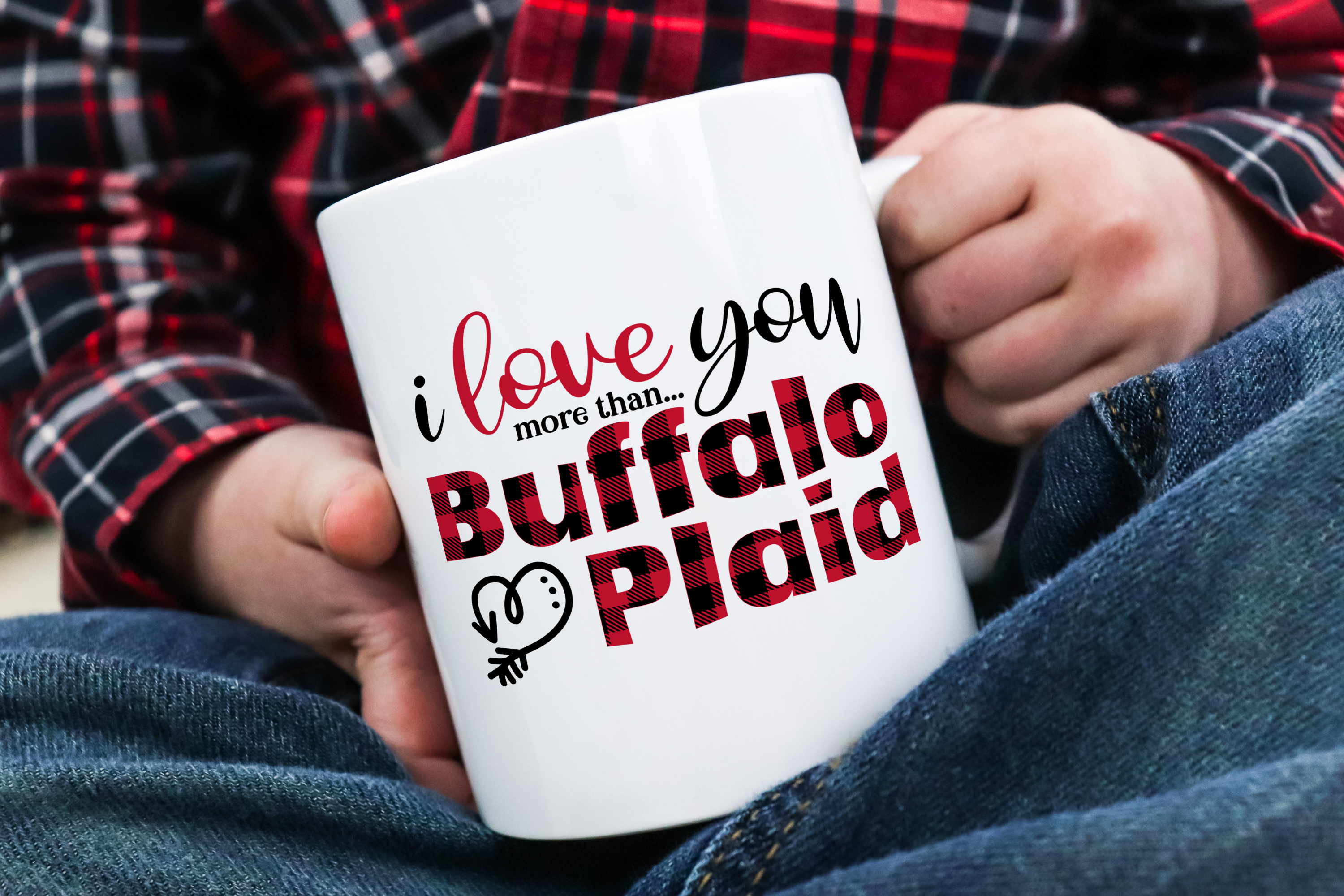 I Love You More than Buffalo Plaid - A Valentine's Day SVG example image 2