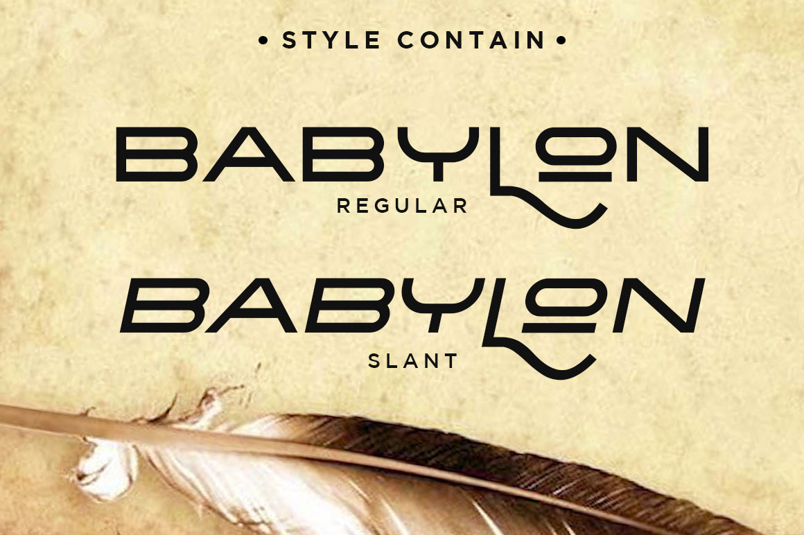 The Babylon Strong Typeface example image 6
