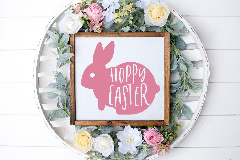 Hoppy Easter SVG, Easter SVG, Spring SVG, Cricut Cut File example image 1