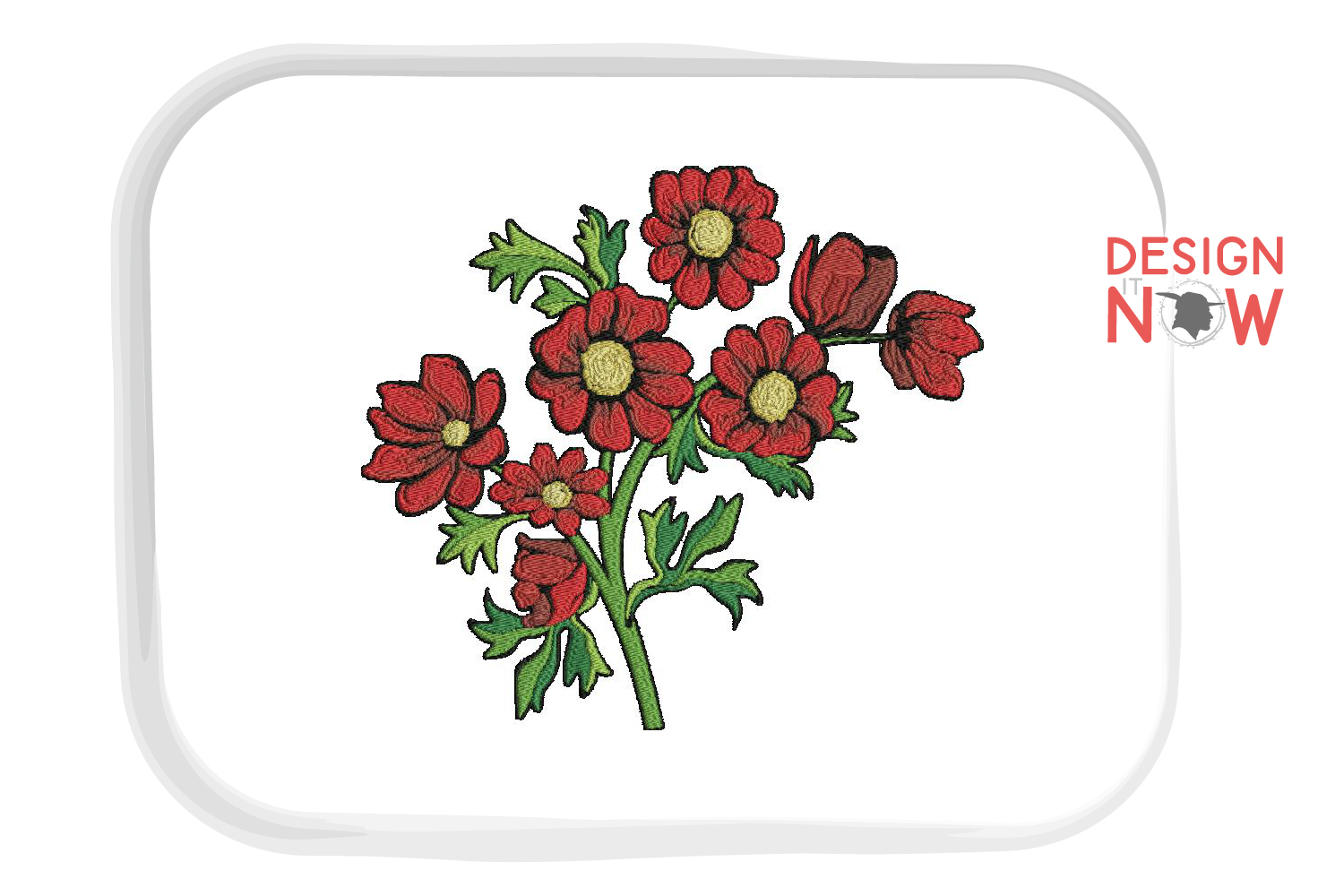 Botanical Art, Flower Embroidery Design, Plant Embroidery example image 2