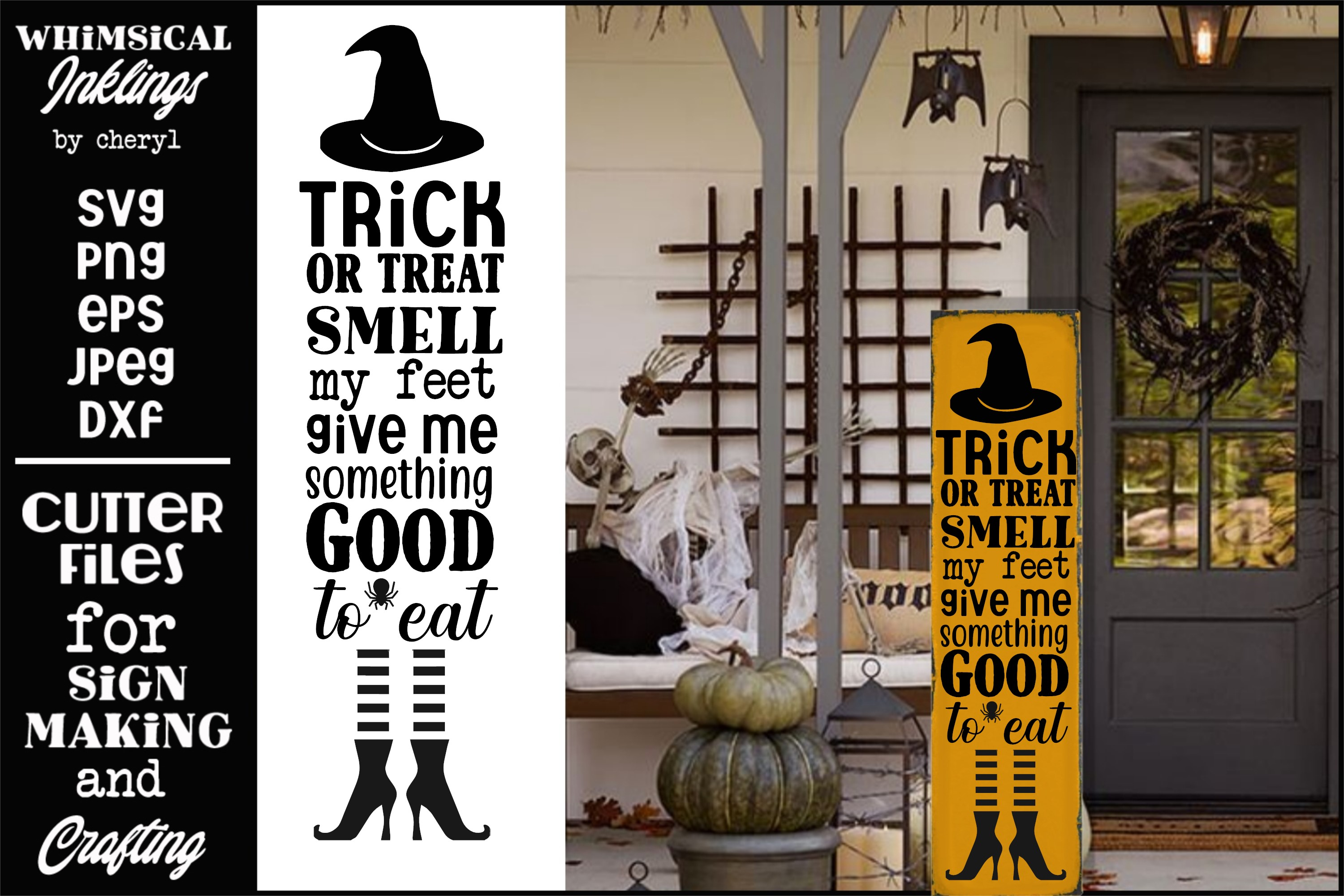 Smell My Feet-Vertical Halloween SVG example image 1