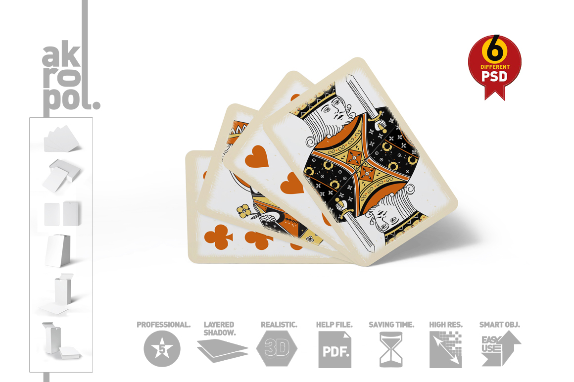 Playing Cards Mock Up example image 1