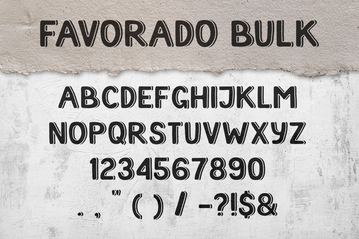 Favorado typeface example image 2